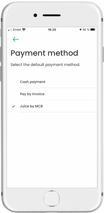 Same-day Delivery Payment Methods Screenshot