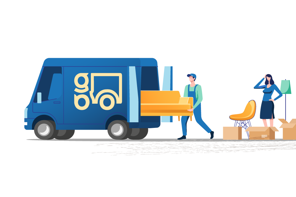 On-demand furniture moving order process